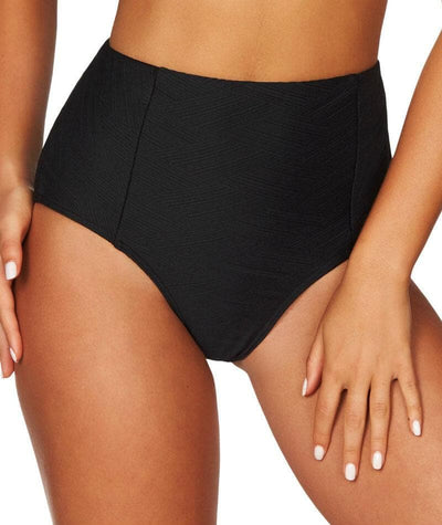Sea Level Majorca High Waist Bikini Brief - Black Swim