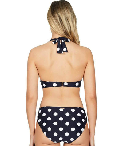 Sea Level Polka Dot D-DD Cup Halter Bikini Top - Night Sky