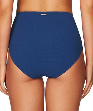 Sea Level Riviera Rib High Waist Brief - Ocean Blue