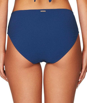 Sea Level Riviera Rib Mid Bikini Brief - Ocean Blue Swim