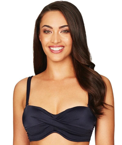 Sea Level Sunset Dreams Twist Front B-D Cup Bandeau Bikini Top - Night Sky