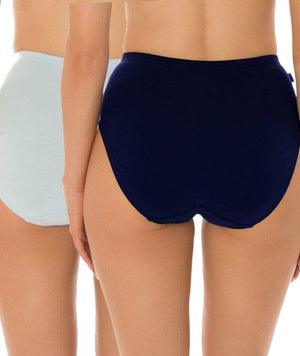 Sloggi Hikini 2 Pack Midi Brief - Blue/Navy Knickers