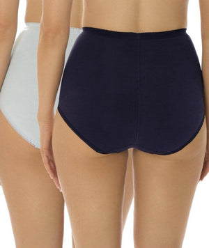 Sloggi Maxi Brief 2 Pack - Blue/Navy Knickers