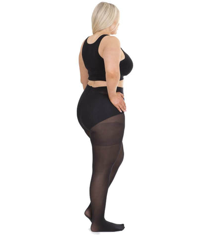 Sonsee Woman Opaque 60 Denier Full Tights - Black Hosiery