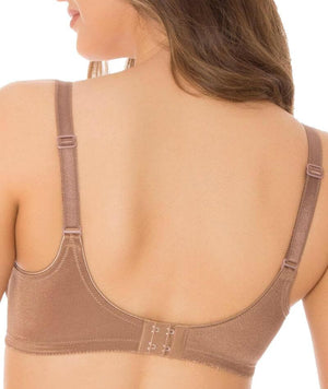 Triumph Embroidered Minimizer Bra - Quiet Brown
