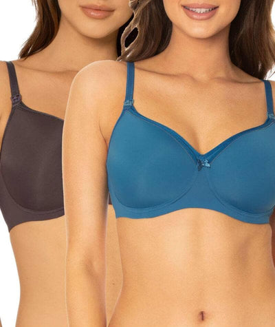 Triumph Mamabel Smooth Maternity Bra 2 Pack - Smoke/Peacock Bras