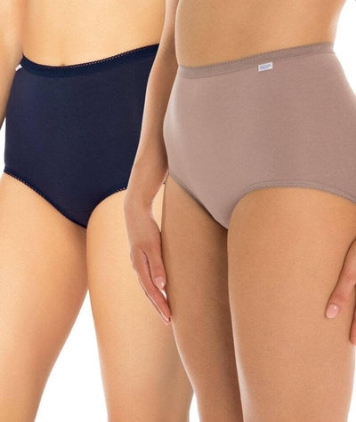 Triumph Sloggi Maxi Brief 2 Pack - Blue/Brown Knickers