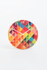 Rainbow Geometric wall clock