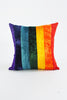 Peace & Love Velvet Rainbow Cushion