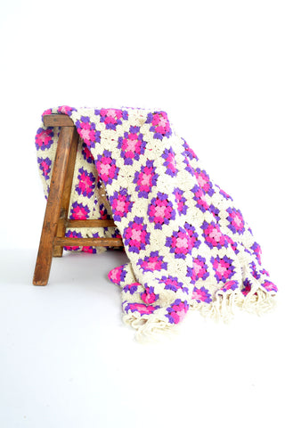 Dolly Mae Pink & cream Throw SOLD OUT