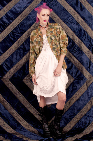 Tank Girl Camo Button Up SOLD OUT