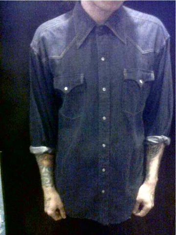 clippety clop denim button up