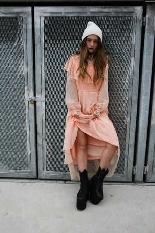 Life is peach dress SOLD OUT