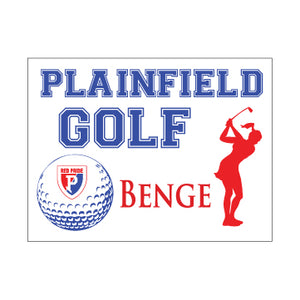 Plainfield Girls Golf Yard Sign