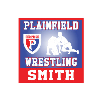 Plainfield Wrestling Car Decal