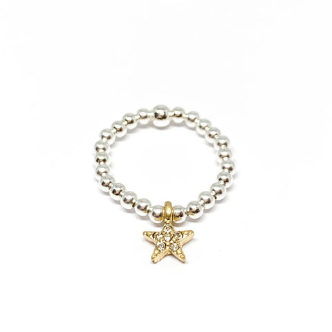 Rachel Sparkle Star Ring - Gold