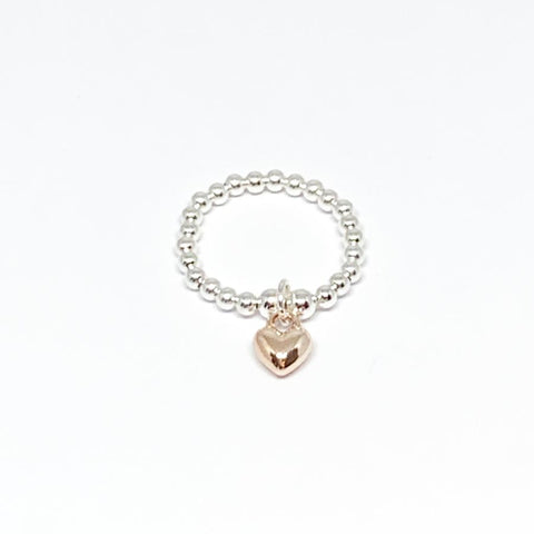 Rachel Heart Ring - Rose Gold