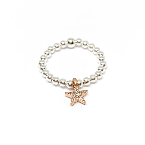 Rachel Sparkle Star Ring - Rose Gold