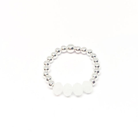Rachel Bead Ring - White