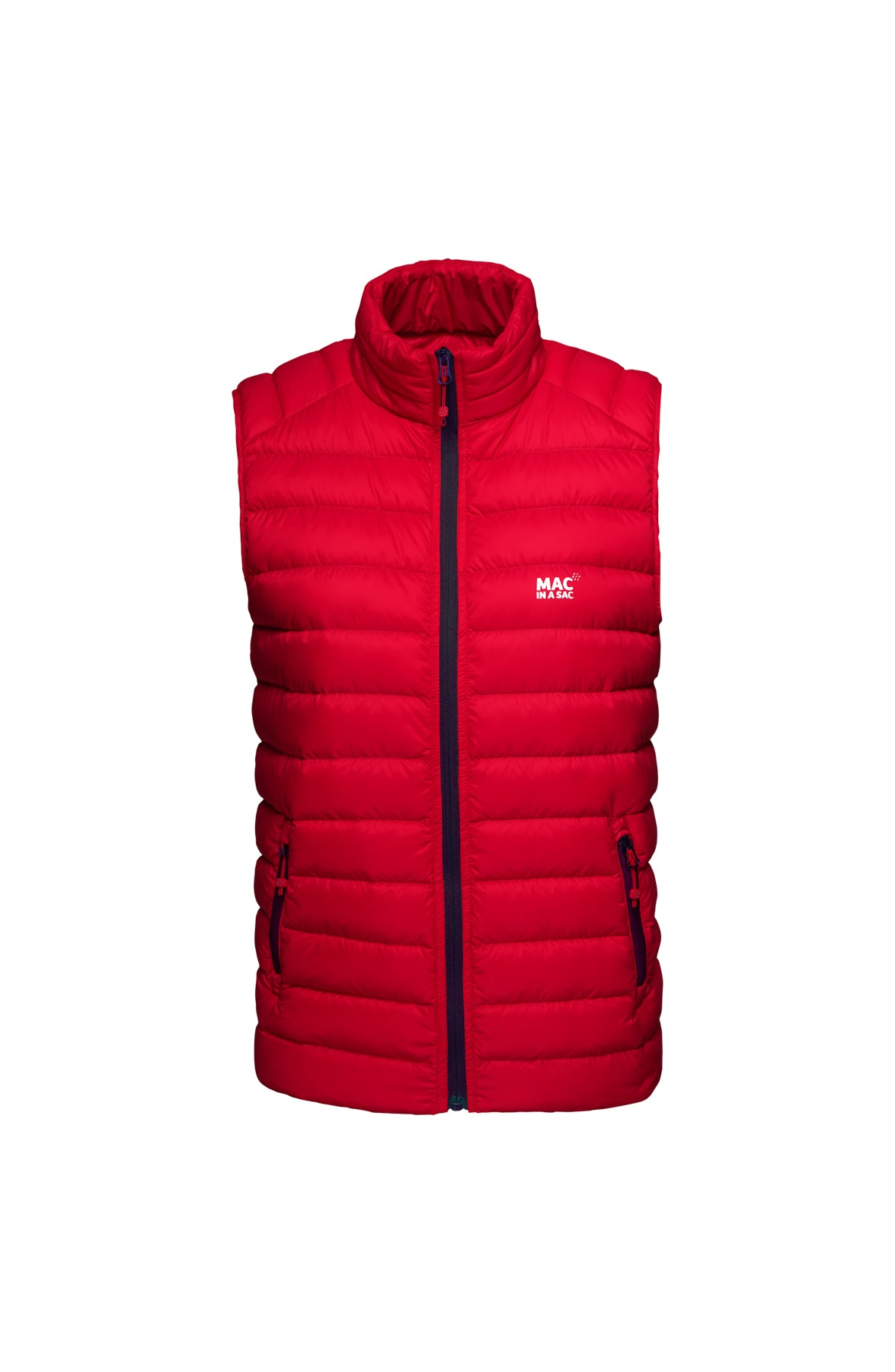 Mens Red Down Gilet - Packable