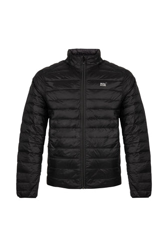 Mens Charcoal-Black Reversible Down Puffer Jacket - Packable