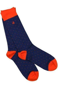 Men's Bamboo Socks - Spotted Orange