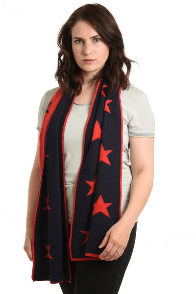 Cashmere Mix Scarf - Red
