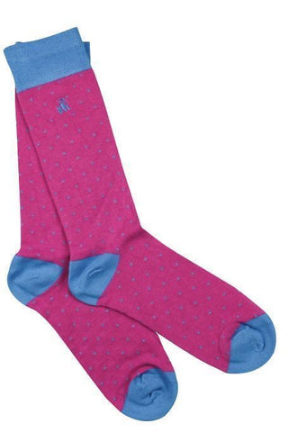 Ladies Bamboo Socks - Spotted Blue