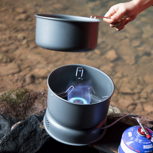 Outdoor Foldable Split Gas Stove And Cooking Pot Set