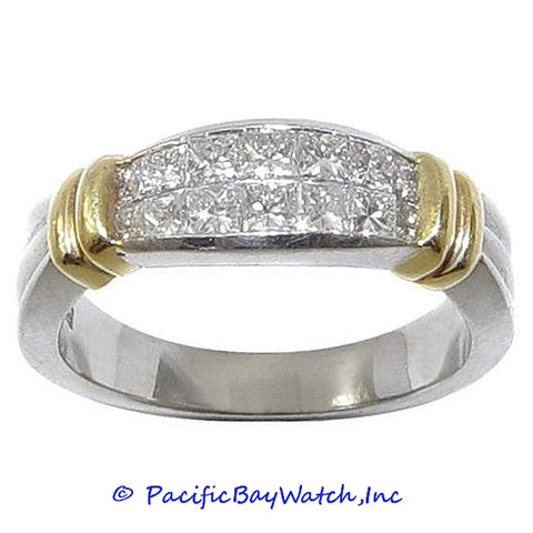 Ladies 18K Gold and Platinum Diamond Band