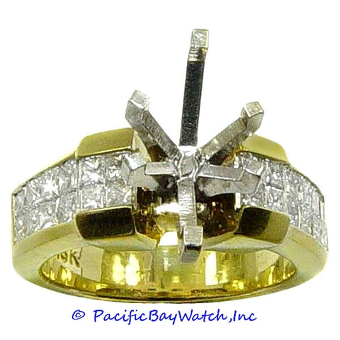 18K Yellow Gold Ladies Diamond Ring Mounting