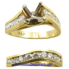 14K Gold Ladies Diamond Ring Mounting