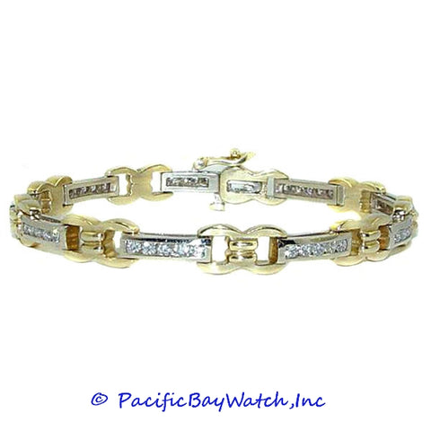 Ladies Two Tone 14K Gold Diamond Bracelet