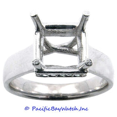 14K White Gold Ladies Diamond Ring Mounting