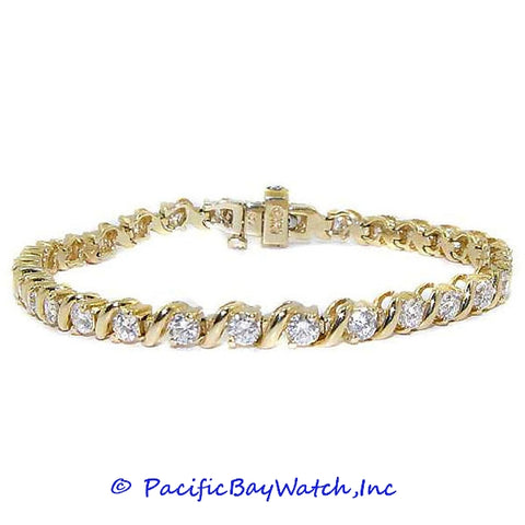 Ladies 14K Yellow Gold Diamond Bracelet