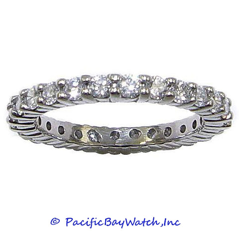Ladies Eternity Diamond Band Platinum