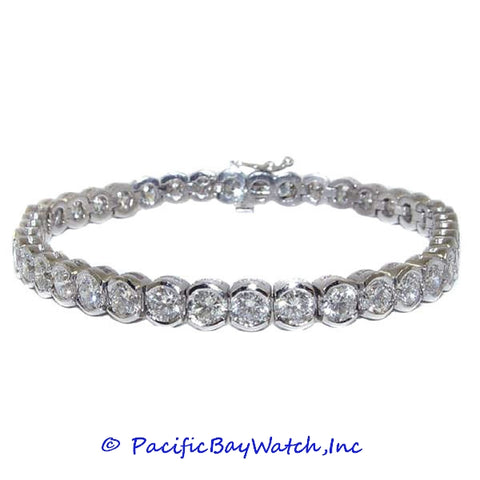 Ladies Platinum Diamond Bracelet