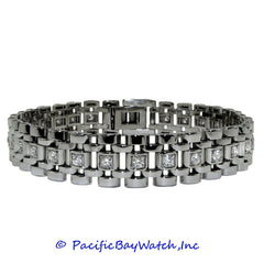 14K White Gold Bracelet for Men