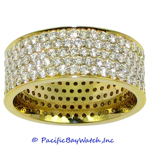 Ladies 18k Yellow Gold Diamond Band