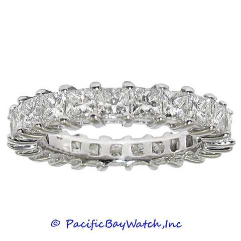 Ladies Eternity Diamond Band White Gold