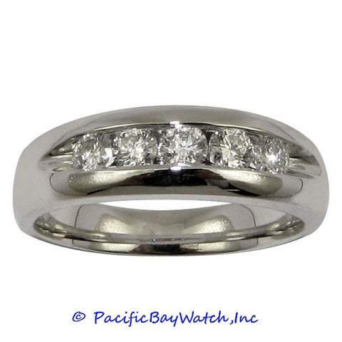 Men's 18K White Gold Diamond Ring