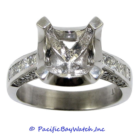 Platinum Ladies Diamond Ring Mounting