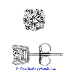 Ladies White Gold Stud Diamond Earrings 1.10ct. T.W.