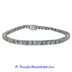 Ladies 14K White Gold Diamond Bracelet