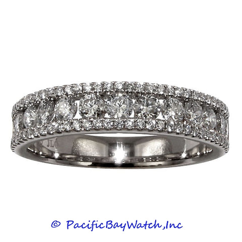 Ladies 18k White Gold Diamond Band