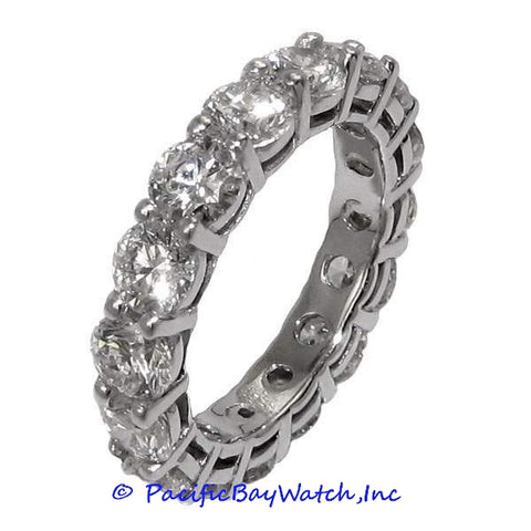 Ladies Eternity Diamonds Band White Gold