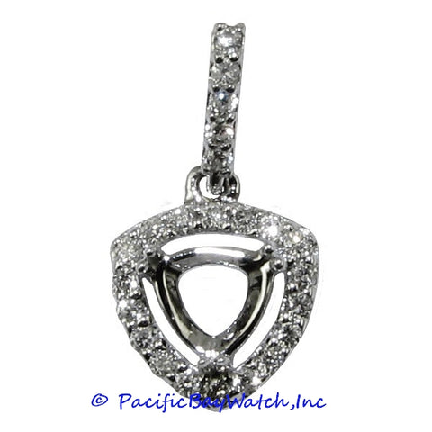 Ladies 14K White Gold Diamond Pendant Mounting