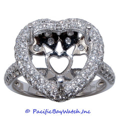 18K White Gold Ladies Diamond Ring Mounting