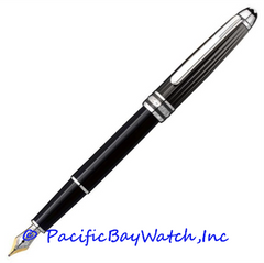 Montblanc Meisterstuck Solitaire Doue Black and White Fountain Pen 101404