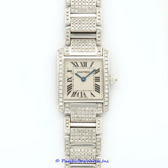 Cartier Tank Francaise Ladies All Diamond Pre-Owned Watch